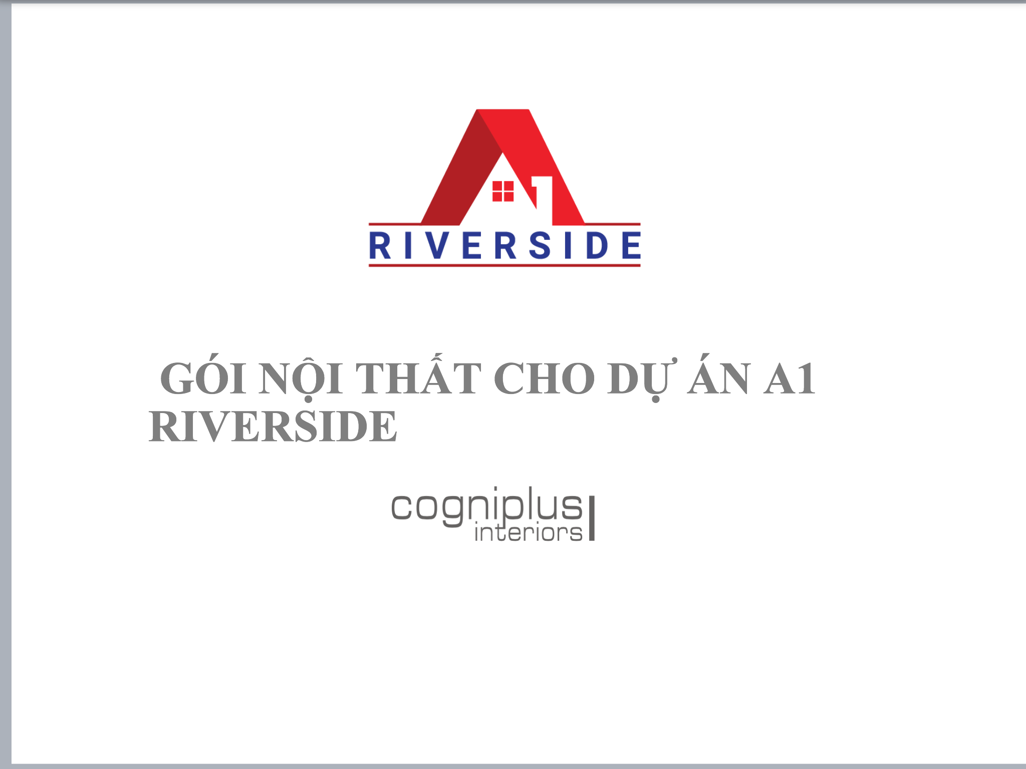 NỘI THẤT CĂN HỘ A1 RIVERSIDE